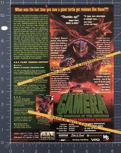 GAMERA: Guardian of the Universe__Original 1997 Trade Print AD / ADVERT / promo