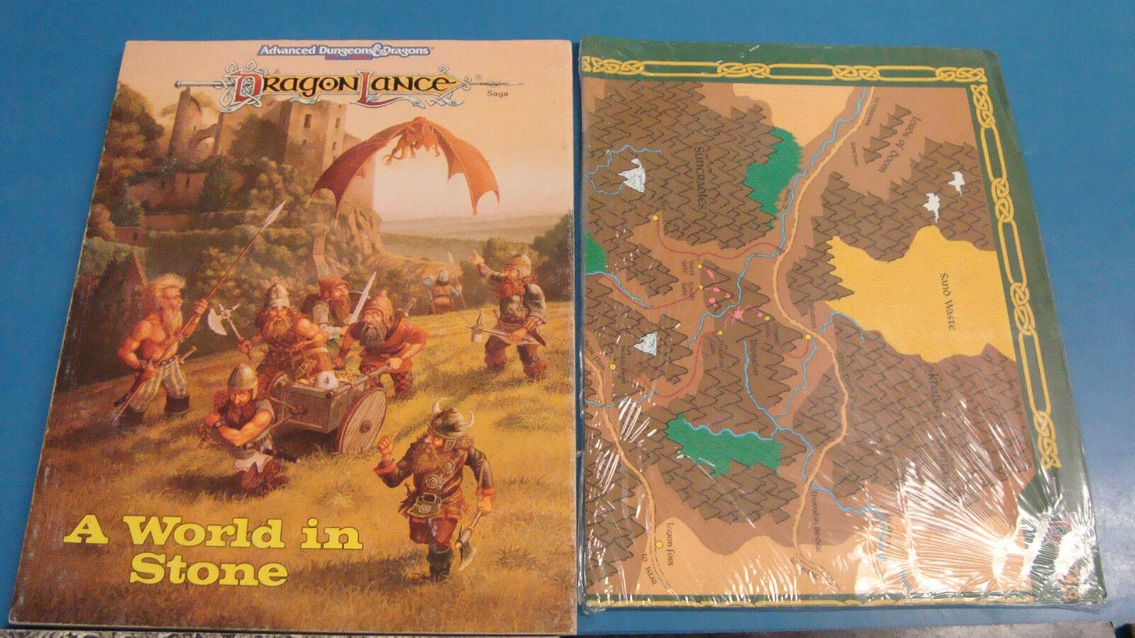 9x Used AD&D items Dragonlance, Forgotten Realms, Greyhawk, Dwarves, Map etc