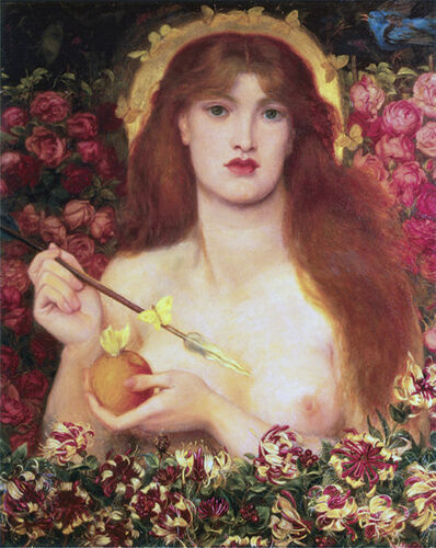"c.1864 20x26/"" Nudes Art  Canvas Venus Verticordia Dante Gabriel Rossetti"