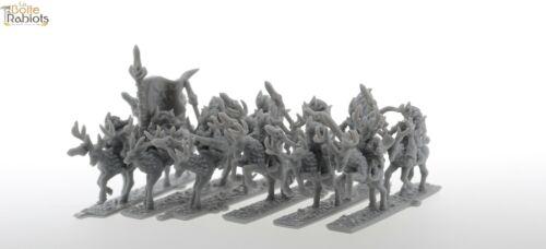 Warmaster-Proxy impréssion 3d-15mm-Woord elves-Archers lot 2