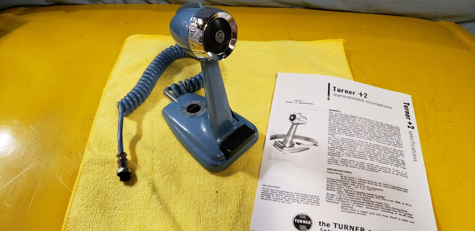 TURNER PLUS 2  DESK MIC * BEAUTIFUL DEEP FINISH * COLLECTORS MAKES U SMILE😊 . Available Now for 269.00