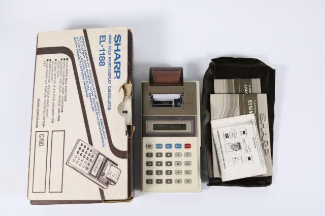 Vintage SHARP EL-1188 ELSIMATE Hand Held Print/Display Calculator