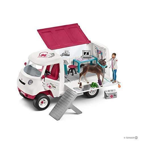 Schleich 42370 Tierärztin mit Baby Pferd Fohlen Kinder Spielzeug Mädchen ab 5