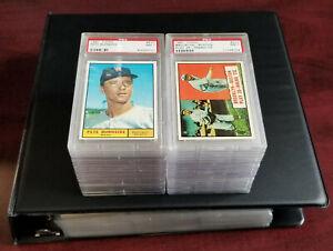 1961 Topps Baseball Complete set EX,EX-MT,NM w/36 Graded - Please read descr.