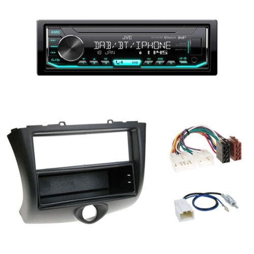 JVC DAB especializada negro ISO-adaptador radio toyota yaris 2003-2005 din diafragma