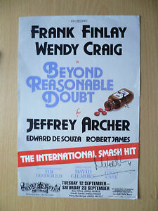 Theatre-Royal-Nottingham-Flyer-BEYOND-REASONABLE-DOUBT-by-J-Archer-with-Signed