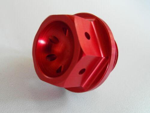 SUZUKI GSX R 1000 600 750 Öleinfüllschraube 02A viele Modelle rot neu
