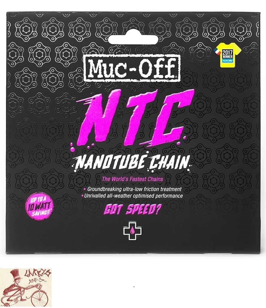 MUC-Off nanotubo de 11 velocidades 116 enlaces SHIMANO DURA-ACE Carretera Bicicleta Cadena