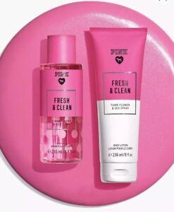 4de32ca5d9 Victoria s Secret Pink Fresh   Clean Fragrance Body Mist and Lotion ...