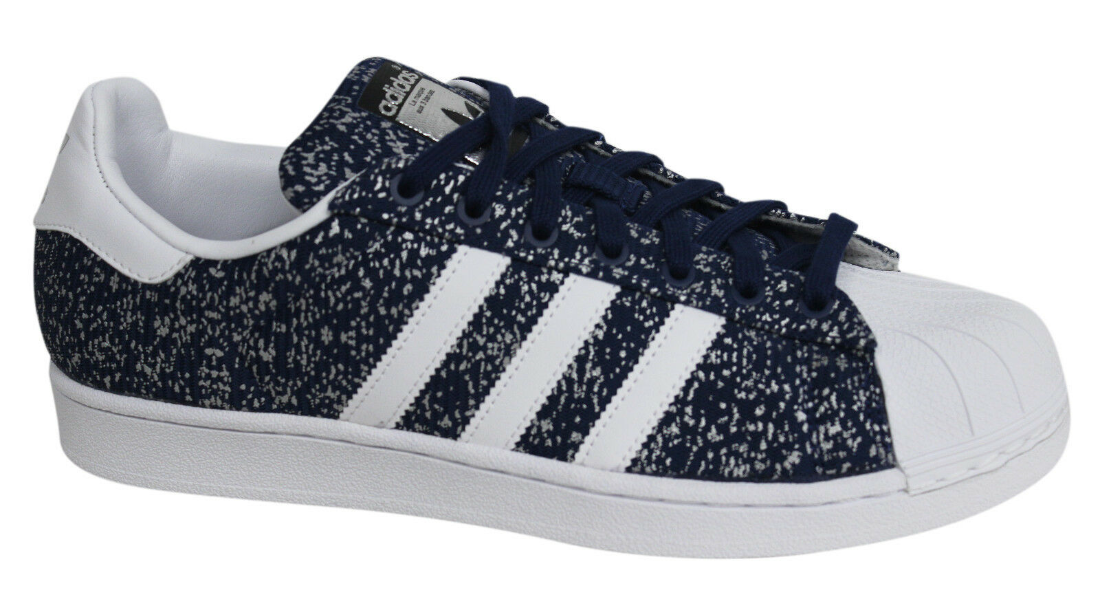 Adidas Originals Superstar Lace Up Blue Synthetic Mens Trainers S85980 M9