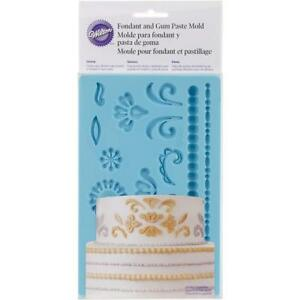 Wilton-Damask-Fondant-Gum-Paste-Accents-Silicone-Decorating-Cake-Sugarcraft-Mold