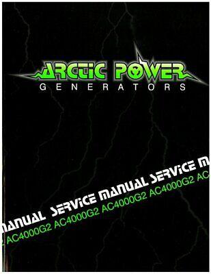 NEW ARCTIC CAT GENERATOR SERVICE MANUAL FOR AC1400G Automotive ...