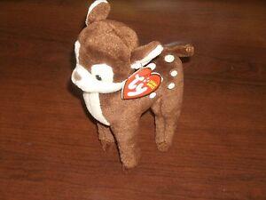 Ty Beanie Baby ~ NUTMEG ~ Deer ~ DOB:1/7/10 ~ MINT/MINT TAG ~ RETIRED ~VHTF