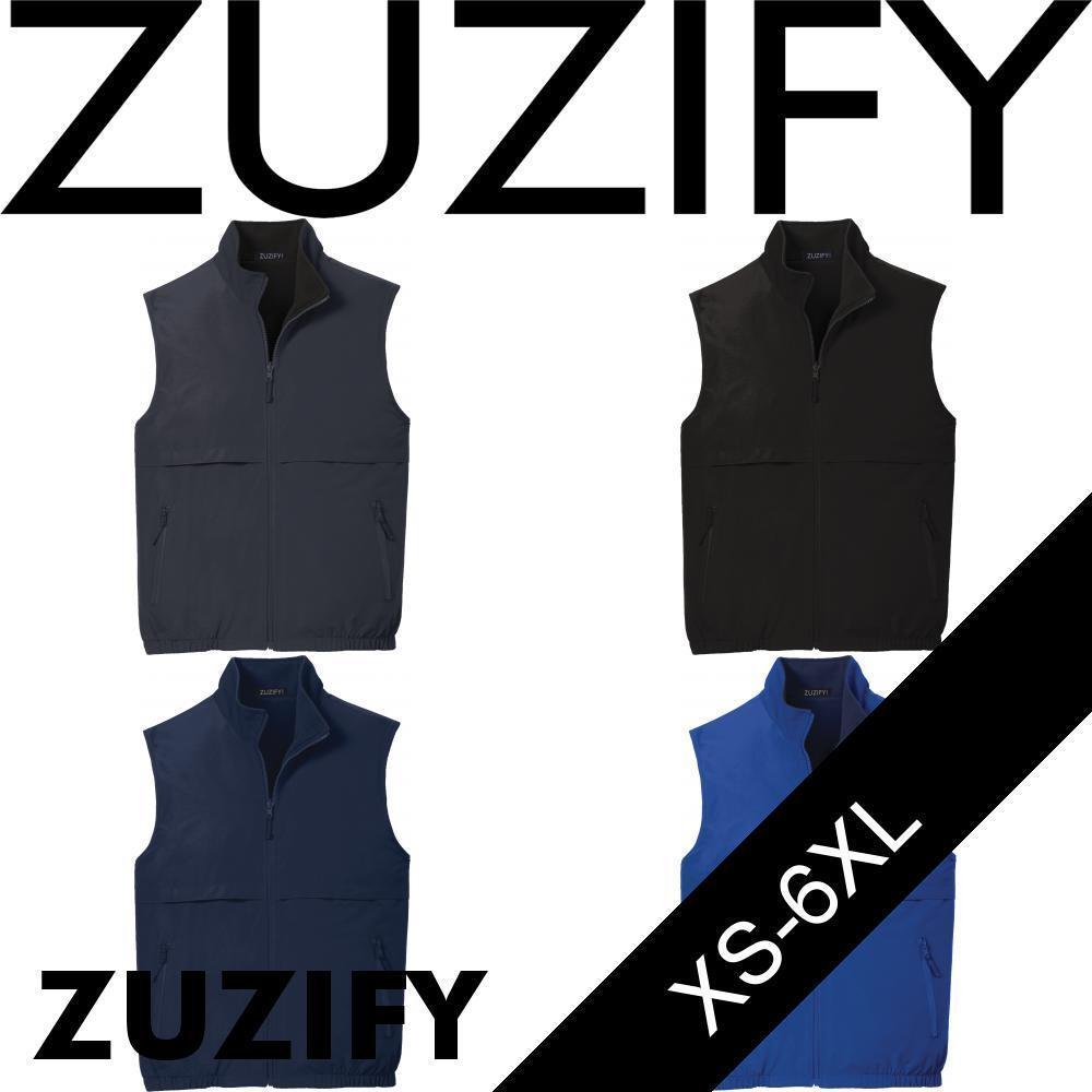 ZUZIFY Reversible Heavyweight Fleece Lined Vest. IQ0876