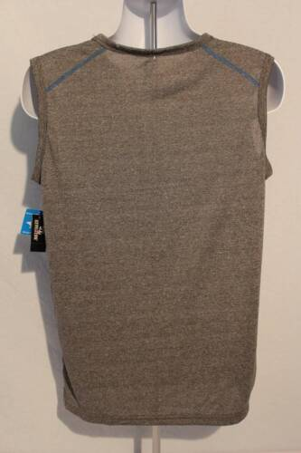 NEW Mens Tank Top Muscle Shirt Size XL Blue Gray Silky Wicking Sports Athletic