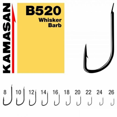 KAMASAN B520 SPADE END HOOKS SIZE 8//10//12// 22//24//26 PACKETS BOXES BARBED