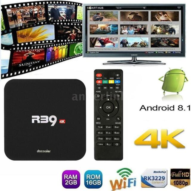 R39 Smart Android 8.1 TV Box RK3229 Quad Core 4K 2G 16G WiFi H.265 HD 3D Media