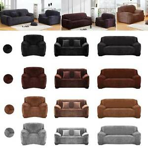 1//2//3//4 Seater Elastic Sofa Covers Slipcover Stretch Floral Couch Protector UK