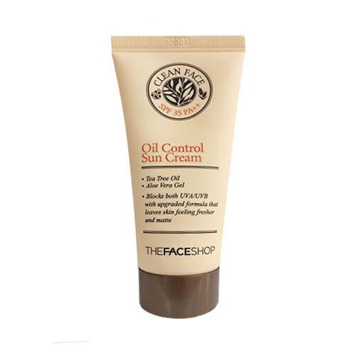 [THE FACE SHOP] Clean Face Oil Control Sun Cream - 50ml (SPF35 PA++)