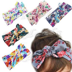 Baby Kids Girl Flower Bow Hairband Turban Knot Rabbit Headband Headwear Hot
