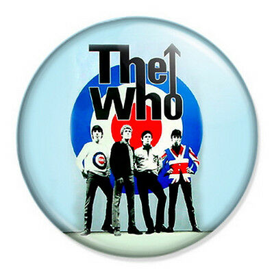 """The Who 25mm 1"""" Pin Badge Button Retro Punk Rock New Wave Music Mod"""