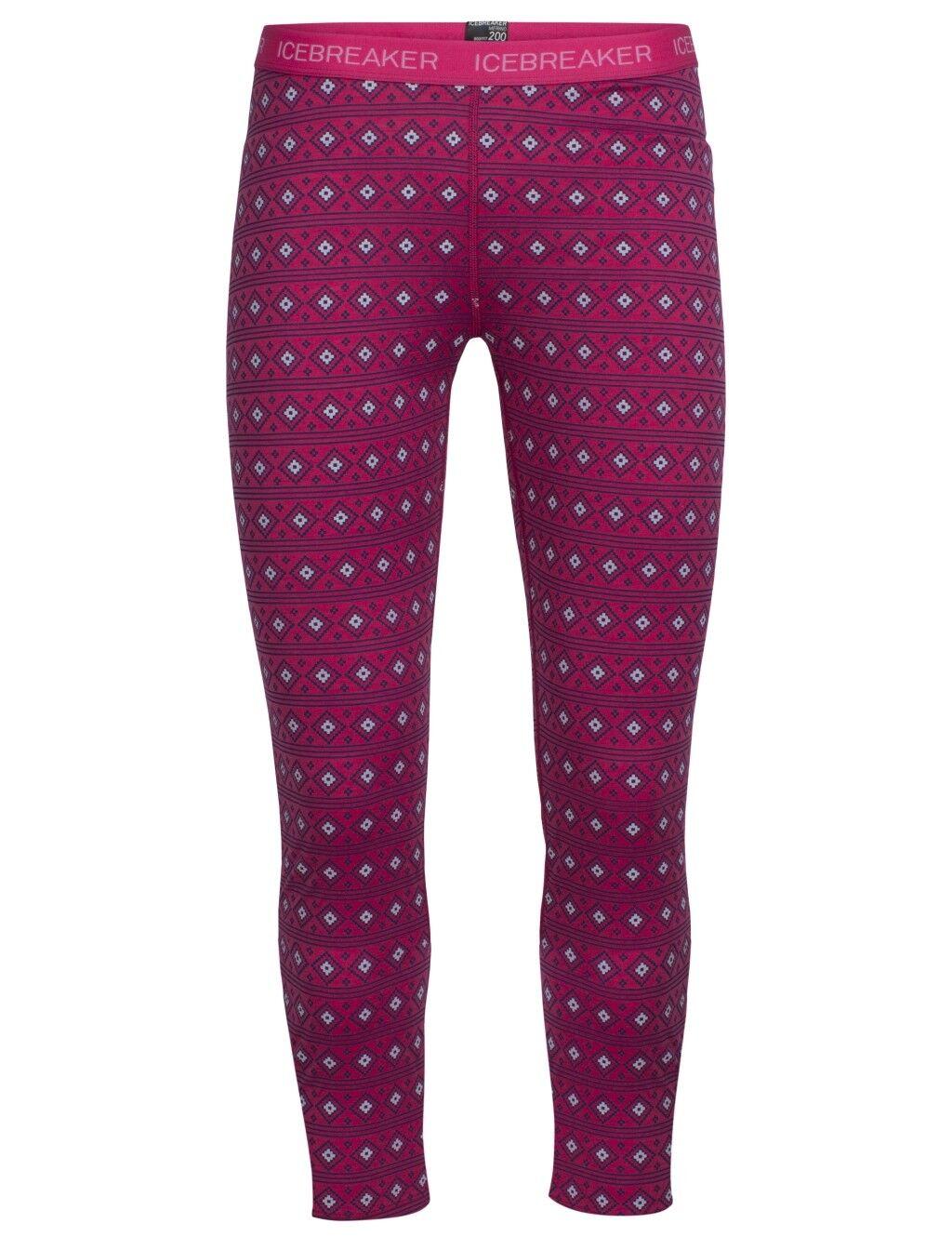 Icebreaker Kids Oasis Leggings, Align Pop Pink, Size J14