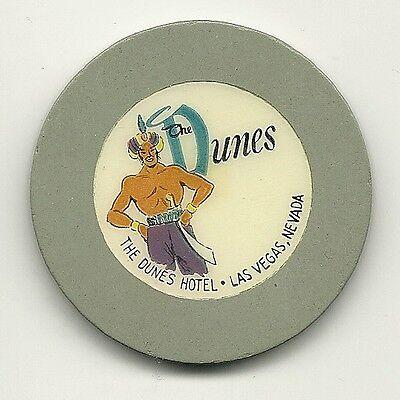 DUNES HOTEL Gray Roulette Casino Chip Las Vegas RLT Poker Sultan Obsolete Nevada