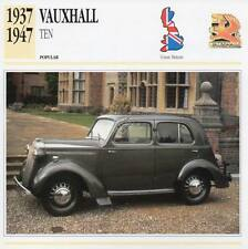 1937-1947 VAUXHALL TEN Classic Car Photograph / Information Maxi Card