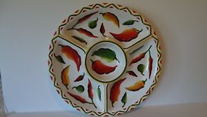 LARGE-CLAY-ART-STONELITE-CERAMIC-034-SANTA-FE-034-CHILi-PEPPER-PLATTER
