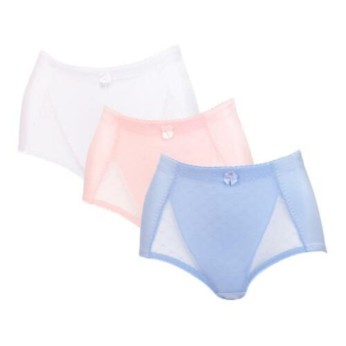 """Rhonda Shear /""""Pin-Up/"""" Lace Control Brief 3-pack-Tranquil Skies-2X-NEW"""