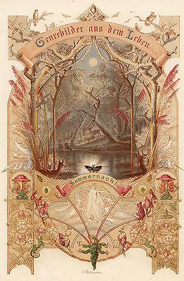 SCHEUREN 1856 - Sommernacht, Summer Night - Düsseldorfer Künstler Album ORIGINAL