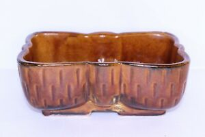 Vintage-Ungemach-UPCO-USA-Brown-Pottery-Ceramic-Planter-104-6-034