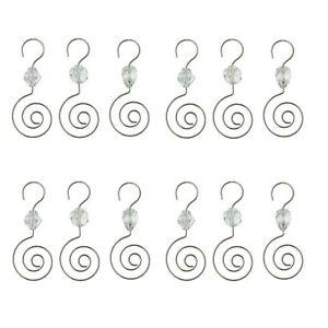 image is loading hohiya christmas ornament hooks hangers with acrylic gem - Christmas Ornament Hooks