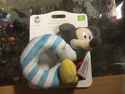 Official Disney Mickey Mouse Rattle Soft Toy New Tags To Enjoy High Reputation At Home And Abroad