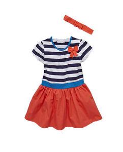 Ladybird-Girls-Short-Sleeve-Stripe-Dress-in-Multi-Size-2-3-Years