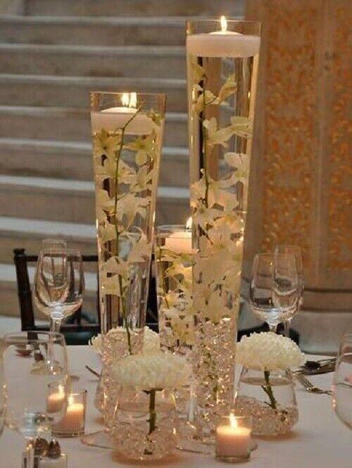 Verre Clair Pilsner Trompette vase H-16 , ouverture 4.5  Mariage Centerpiece 12 Pcs