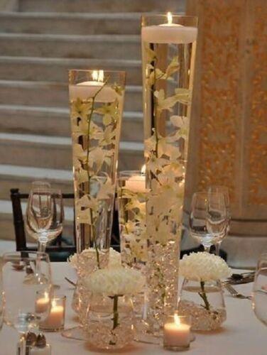 "Clear Glass Pilsner Trumpet Vase H-16/"",Opening 4.5/"" Wedding Centerpiece 12 pcs"