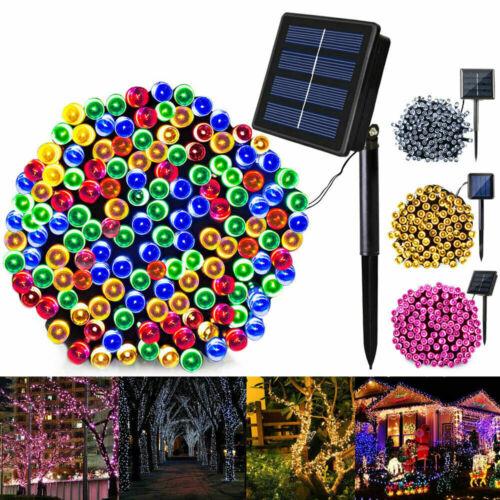Solar Fairy String Lights 100 LED 12M Garden Outdoor Christmas Party Decor Light