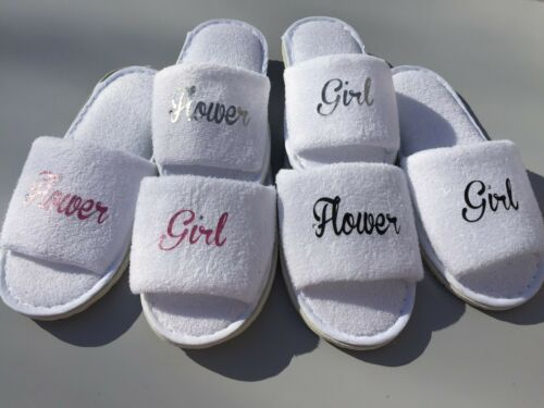 Bride slippers bridesmaid mother of the bride personalised slippers bridal party