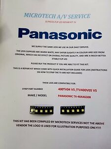 PANASONIC-TX-40AX630B-STRIP-NUMBER-400TV04-V5-400TV05-V5-10-PIECE-FLIP-LED-KIT