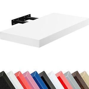 Stilista-Tableau-mural-034-VOLATO-034-Etagere-CD-DVD-70cm-Blanc-flottant