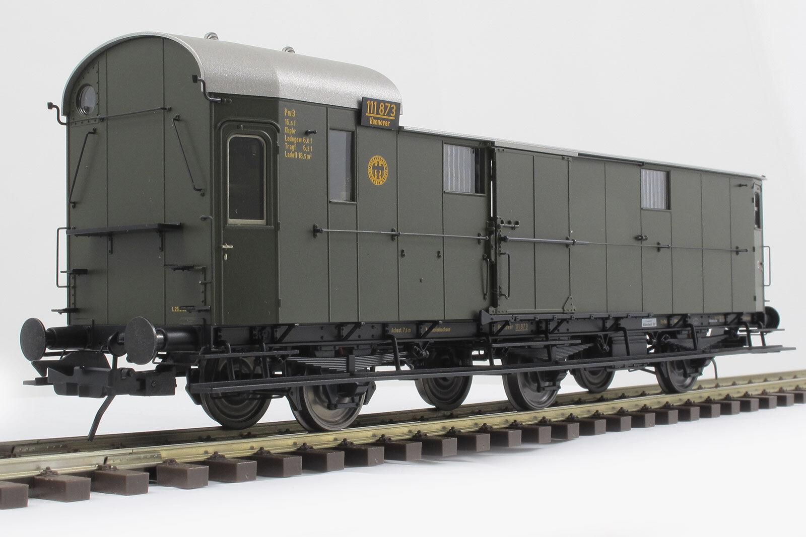 Lenz Scala 0 4116901 Prussiano Vagone borsaagli modellololo Pw3 Merce Nuova
