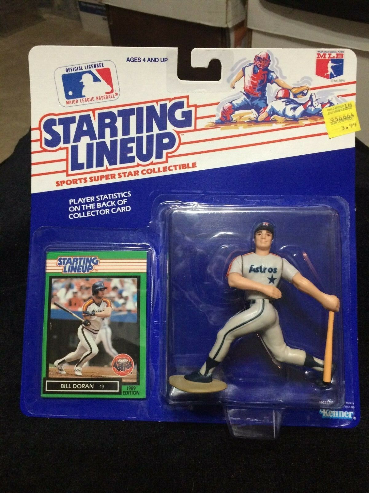 1989 SLU Bill Doran Kenner Starting Lineup Houston Astros Regional Release
