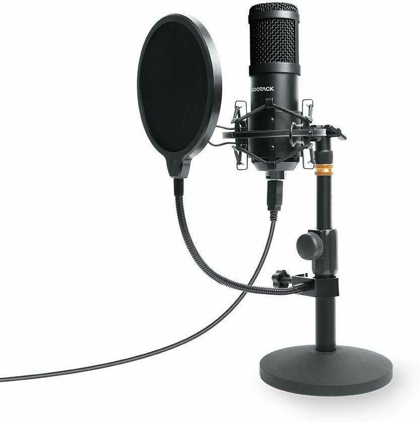 Professional Studio Recording Microphone Condenser Mic Kit Desktop Stand
