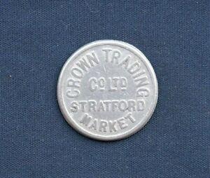 Vintage Crown Trading Co (CTC), Stratford Market 5/- Metal Token C1940/50s Era