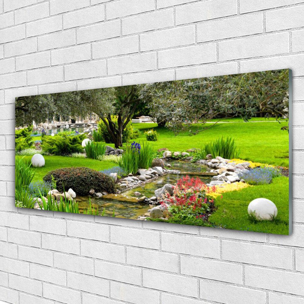 Tableau murale Impression sous verre 125x50 Nature Jardin