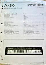 Roland A-30 Midi Controller Keyboard Original Roland Service Manual, Schematics