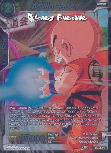 Krillin Aguerri TB2-053 VF//C FOIL Dragon Ball Super Card Game