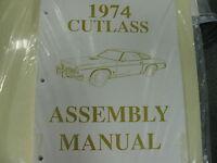1974 Cutlass, 442 (all Models) Assembly Manual