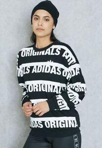 Nouveau 707 Originals Allover W Taille Adidas Sweatshirt 10 Uk8 Black qSw8wU6z4